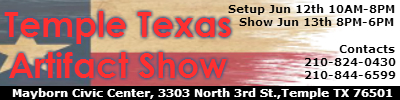 Temple Texas Artifact Show